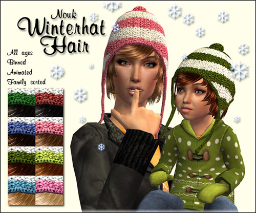 Winter Hat hair for all ages