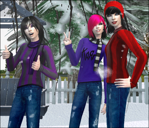 SnowWhite: recolours of some Maxis outerwear.