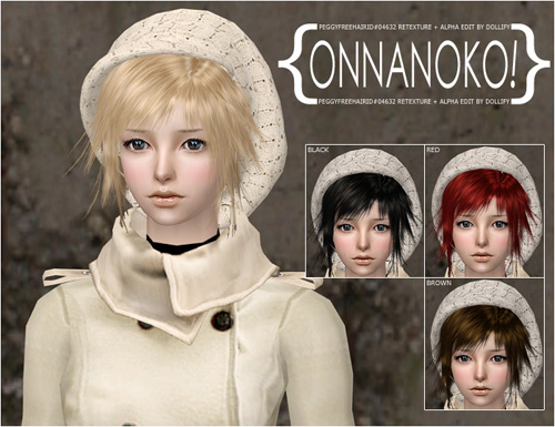 {Onnanoko!} PeggyFreeID#04632 Retexture + Alpha Edit