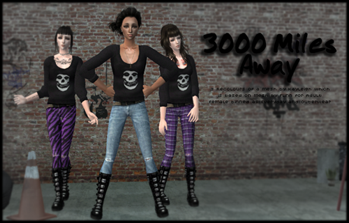 3000 Miles Away - 3 Outfits for AF