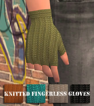 |Noora|Violent| Knitted Fingerless Gloves