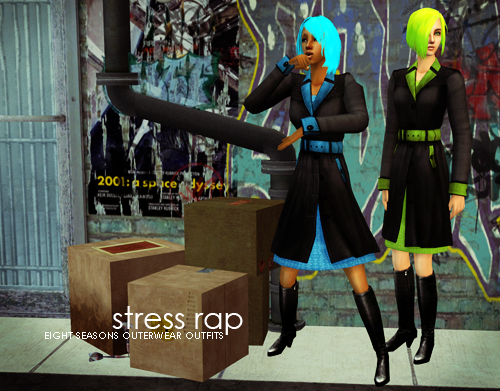 Stress Rap - 8 AF Seasons Outerwear Outfits