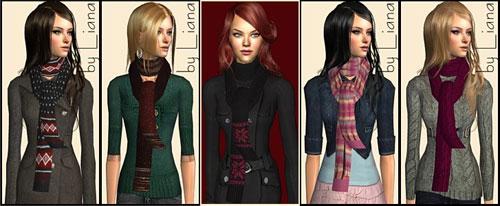 Liana Sims 2 - Accessory Scarves