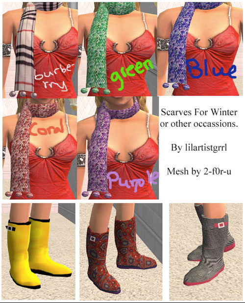 Scarves and Rain Boots