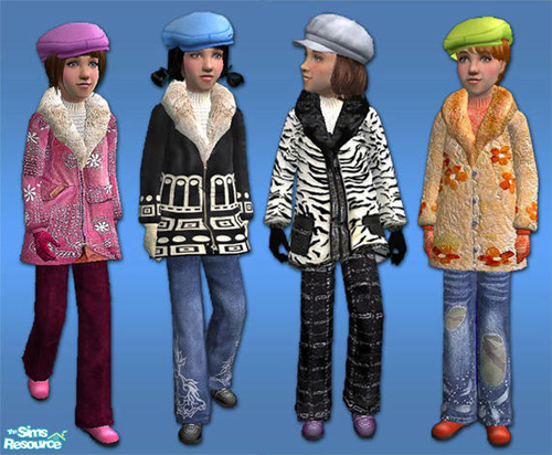 "NNNsims2""s Girl winter coat"