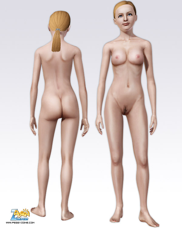 Sims 3 Nude Skin The Sims 4 Default Female Nude Skins Shaven Natural