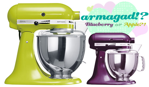 Kitchenaid Artisan Mixers: Blueberry or Apple, that is the question